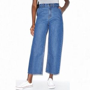🌻NEW (w/tags!) American Apparel High Rise Cropped Wide Leg Jean Size 28 / 6